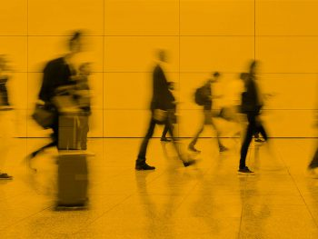 figures on way to work signifying employment