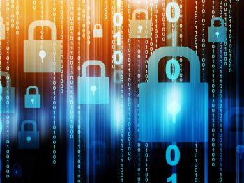 data and padlock signifying protected data